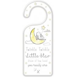 Wooden Baby Door Hanger - Twinkle Twinkle (FS616)