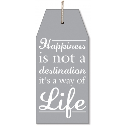 Hanging Happiness Luggage Tag Design Plaque (PSSL)
