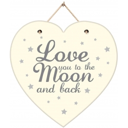 Hanging Love you to the Moon and back Plaque (PGRB)