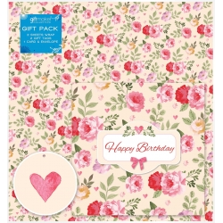Giftmaker Floral Happy Birthday Gift Wrap pack (EWTB)