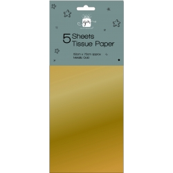 Giftmaker 5 Sheet Tissue Paper - Gold (Y8GMA104)
