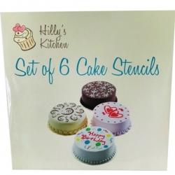 Set of 6 Cake Stencils (HK1082)
