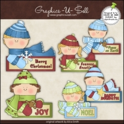 Download - Clip Art - Holiday Message Kids 1
