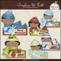 Download - Clip Art - Holiday Message Kids 2