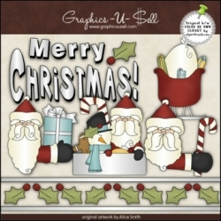 Download - Clip Art - Merry Christmas Santa