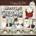 Download - Clip Art - Merry Christmas Santa