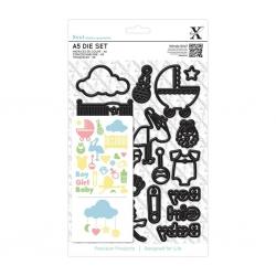 A5 Die Set - New Baby Icons 23pcs (XCU 503264)