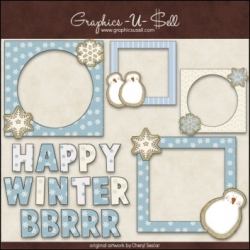 Download - Clip Art - Winter Cookie Frames