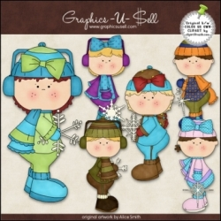 Download - Clip Art - Winter Snow Kids 1
