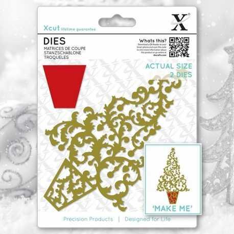 Xcut Dies - Ornate Christmas Tree 2pcs (XCU 503362)