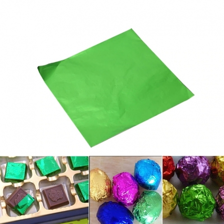 Chocolate Foil - Green (100pcs)