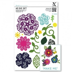 A5 Die Set - Filigree Layered Flower 17pcs (XCU 503437)