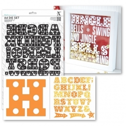 A4 Die Set (34pcs) - Marquee Alphabet (XCU 503276)