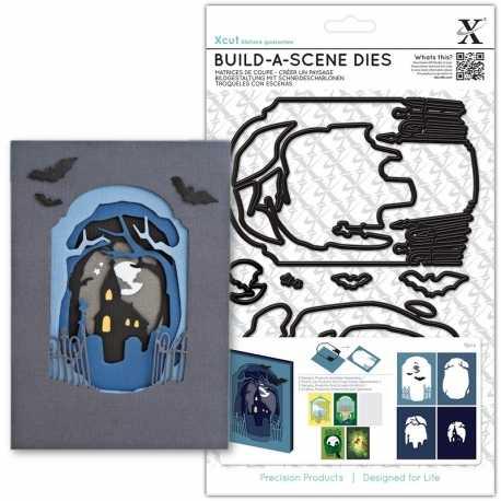 A5 Shadow Box Die (8pcs) - Spooky Graveyard (XCU 503277)