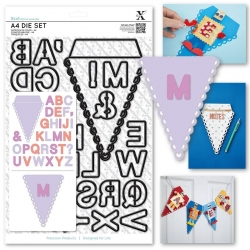 A4 Die Set (31pcs) - Alphabet Bunting (XCU 503262)