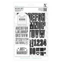 A5 Die Set - Wedding Alphabet & Numbers 48pcs (XCU 503266)