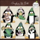 Download - Clip Art - Christmas Penguins 2