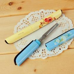 Floral Folding Scissors - Blue (1pr)