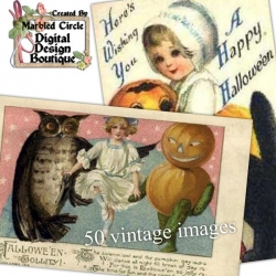 Download - 50 Vintage Halloween Images 4