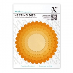 Xcut Dies - Nesting Scalloped Circles 5pcs (XCU 503408)