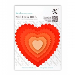 Xcut Dies - Nesting Scalloped Hearts 5pcs (XCU 503407)