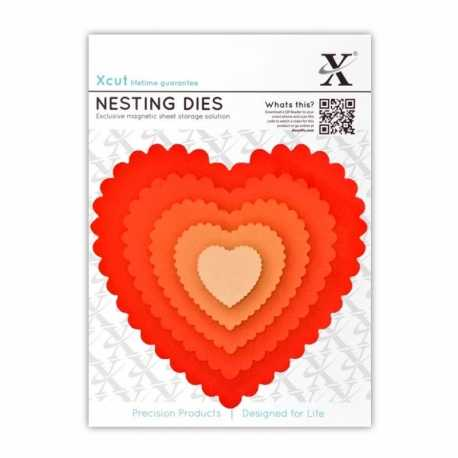 Xcut Dies - Nesting Scalloped Hearts 5pcs (XCU 503407)