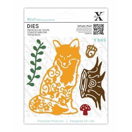 Xcut Dies - Filigree Fox 5pcs (XCU 503429)