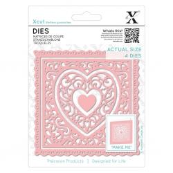 Xcut Dies - Heart Frames 4pcs (XCU 503389)