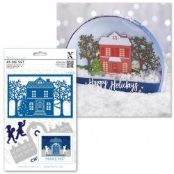 A5 Die Set - Christmas House 8pcs (XCU 503349)