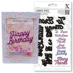 Xcut Large Dies - Sentiments 6pcs (XCU 503915)