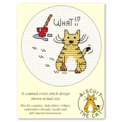Mouseloft Cross Stitch - Biscuit the Cat, What!?