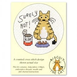 Mouseloft Cross Stitch - Biscuit the Cat, Surely Not!