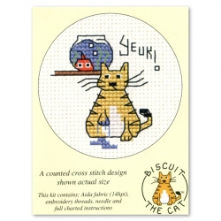 Mouseloft Cross Stitch - Biscuit the Cat, Yeuk?