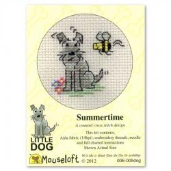 Mouseloft Cross Stitch - Little Dog, Summertime