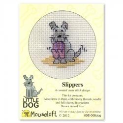 Mouseloft Cross Stitch - Little Dog, Slippers