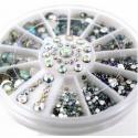 Clear AB Gemstone Wheel