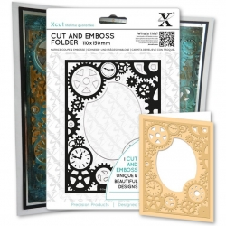 Cut & Emboss Folder - Steampunk Cogs (XCU 503812)