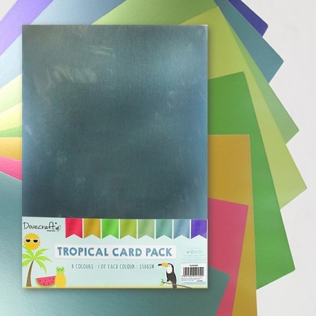Dovecraft A4 Tropical card pack (DCBS206)