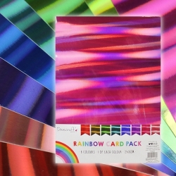 Dovecraft Holographic A4 Rainbow card pack (DCBS204)