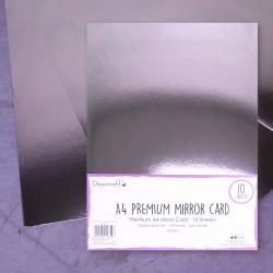 Dovecraft A4 Mirror card - Silver (DCBS163)