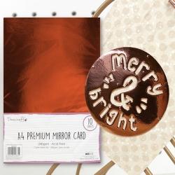 Dovecraft A4 Mirror card - Rose Gold (DCBS164)
