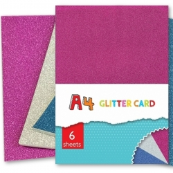 A4 Glitter Card - 6 Sheets (PAGC)