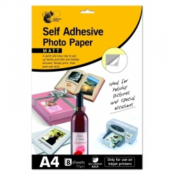 A4 Self-Adhesive Photo Paper 8pk (CW021)