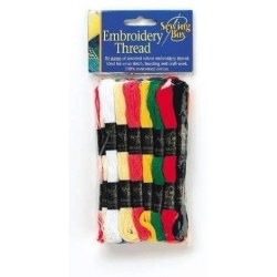 Embroidery Thread 12pk Yellows & Greens (SEW1019A)