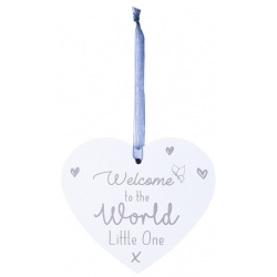 Wooden Baby Plaque - Welcome to the World (FS615)