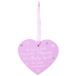 Wooden Baby Plaque - Baby Girl (FS615)