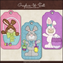Download - Tags - Happy Easter Bunnies