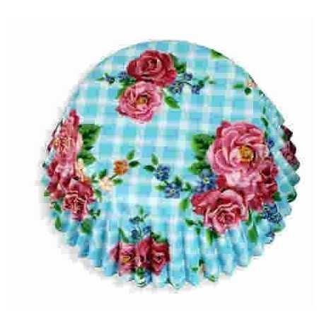Floral Cake Cases 100 - Blue Rose (AM7720)
