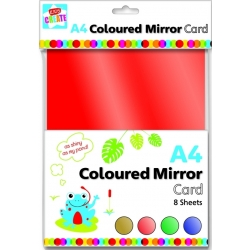 Kids Create A4 Coloured Mirror card (PV1/4)