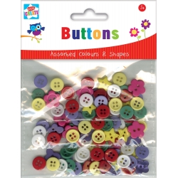 Kids Create Assorted Buttons 90pcs (BTTO)